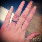 тату обручальные кольца фото - варианты татуировок вместо обручальных колец 2111
