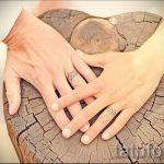 тату обручальные кольца фото - варианты татуировок вместо обручальных колец 73
