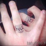 тату обручальные кольца фото - варианты татуировок вместо обручальных колец 74