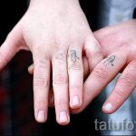 тату обручальные кольца фото - варианты татуировок вместо обручальных колец 82