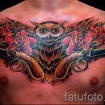 тату пистолеты на груди - фото готовой татуировки 01092016 10179 tatufoto.ru