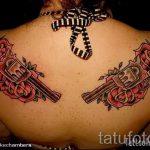 тату пистолет с розами - фото готовой татуировки 01092016 14147 tatufoto.ru