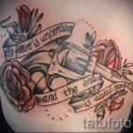 тату пистолет с розами - фото готовой татуировки 01092016 18151 tatufoto.ru