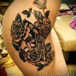 тату пистолет с розами - фото готовой татуировки 01092016 8142 tatufoto.ru