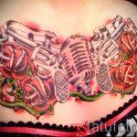 тату пистолет с розами - фото готовой татуировки 01092016 9143 tatufoto.ru