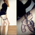 тату пистолет у девушек - фото готовой татуировки 01092016 4156 tatufoto.ru