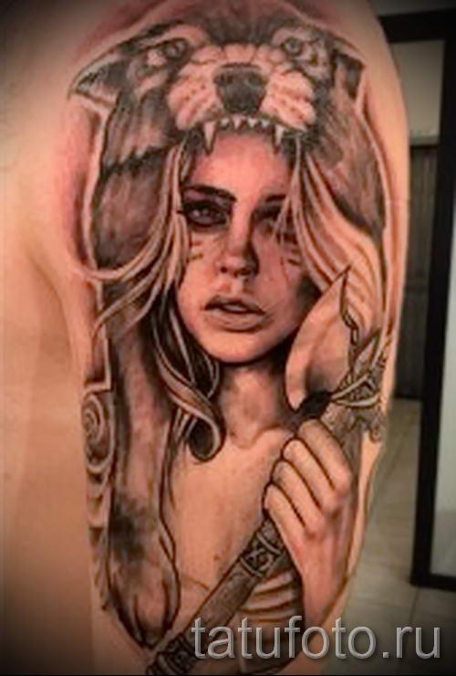 Значение тату портрет девушки