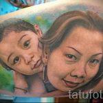 фото тату портрет матери с ребенком