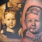 фото тату портрет мальчика и фото с которой выполнена татуировка