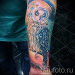 тату сова космос - фото готовой татуировки 3219 tatufoto.ru