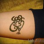 тату хной простые рисунки - фото готовой татуировки 02092016 4435 tatufoto.ru