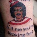 Пример фото смешного тату - вариант 2