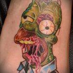 Смешное тату - Барт Симпсон - зомби