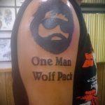 смешное тату с портретом бородатого мужчины