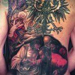 Пример татуировки с иконой - цветная татуировка