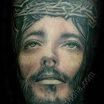 фото тату иконы - лик Иисуса на распятии