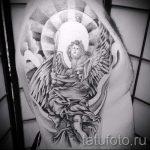 Вариант татуировки в стиле иконы - фото