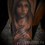фото татуировки иконы - дева со сложенными на груди ладонями
