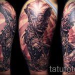 Воин с копьем - фото тату иконы