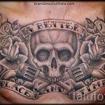 череп с пистолетом тату - фото готовой татуировки 01092016 6214 tatufoto.ru