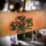 Four Leaf Clover-Tätowierung - Tattoo Glück Reichtum 2012 tatufoto.ru