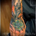 Four Leaf Clover Tattoo Photo - tattoo luck wealth 1009 tatufoto.ru