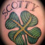 Four Leaf Clover Tattoo photo - tatouage chance richesse 1008 tatufoto.ru
