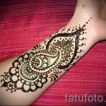 Henna-Tattoo einfache Zeichnungen - das Foto des fertigen Tätowierung 02092016 1044 tatufoto.ru