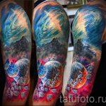 Raum Tattoo Ärmel - ein Foto des fertigen Tätowierung 1018 tatufoto.ru