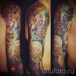 Raum Tattoo Ärmel - ein Foto des fertigen Tätowierung 2019 tatufoto.ru