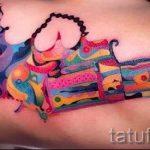 Tattoo-Pistole für Mädchen - ein Foto des fertigen Tätowierung 01092016 1057 tatufoto.ru