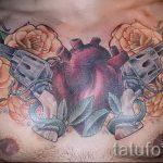 Tattoo-Pistole mit Rosen - ein Foto des fertigen Tätowierung 01092016 2061 tatufoto.ru