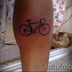 einfache Tätowierung auf seinem Kalb - ein Foto des fertigen Tätowierung 02092016 1018 tatufoto.ru
