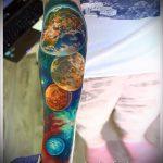 espace tatouage aquarelle - photo du tatouage fini 1004 tatufoto.ru