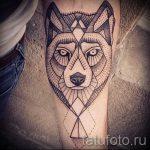 loup de tatouage simples - une photo du tatouage fini 02092016 1051 tatufoto.ru