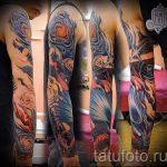 manchon espace de tatouage - une photo du tatouage fini 1011 tatufoto.ru