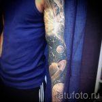 manchon espace de tatouage - une photo du tatouage fini 3013 tatufoto.ru