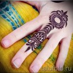 simple henna tattoo - Photo example of the finished tattoo 02092016 1066 tatufoto.ru