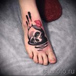 simple skull tattoos - photos of the finished tattoo 02092016 1069 tatufoto.ru