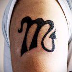 simple, tatouage sur son épaule - une photo de tatouage fini 02092016 1112 tatufoto.ru