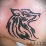 simple tattoo wolf - a photo of the finished tattoo 02092016 1090 tatufoto.ru