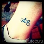 small and simple tattoo on his leg - a photo of the finished tattoo 02092016 1120 tatufoto.ru