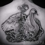 tatouage-cygne-blanc-photo-un-exemple-du-tatouage-fini-1019-tatufoto-ru