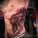 tatouage sur la cicatrice d'appendicite - Photo exemple du tatouage fini 01092016 1001 tatufoto.ru