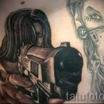 tattoo girl with a gun - a photo of the finished tattoo 01092016 1039 tatufoto.ru