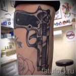 tattoo gun on his leg - a photo of the finished tattoo 01092016 1045 tatufoto.ru
