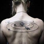 tattoo space minimalism - a photo of the finished tattoo 2029 tatufoto.ru