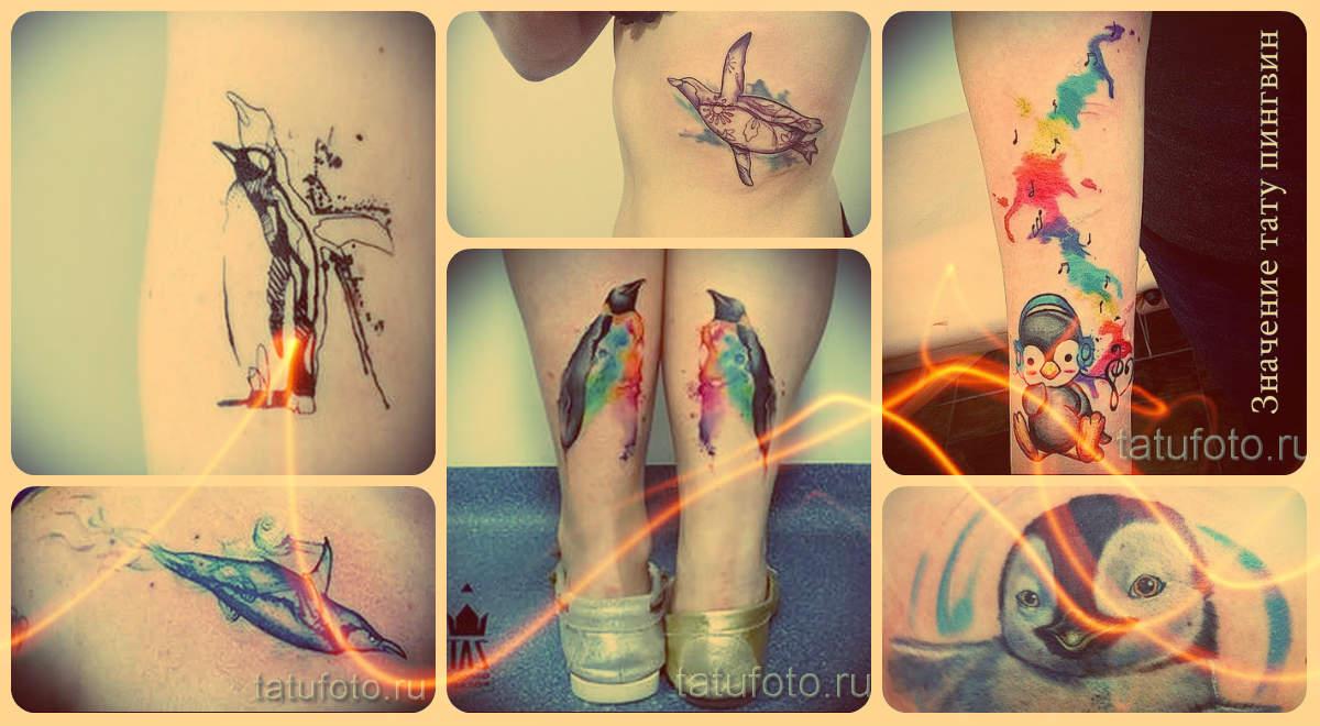 Значение тату пингвин - информация и фото классных готовых татуировок