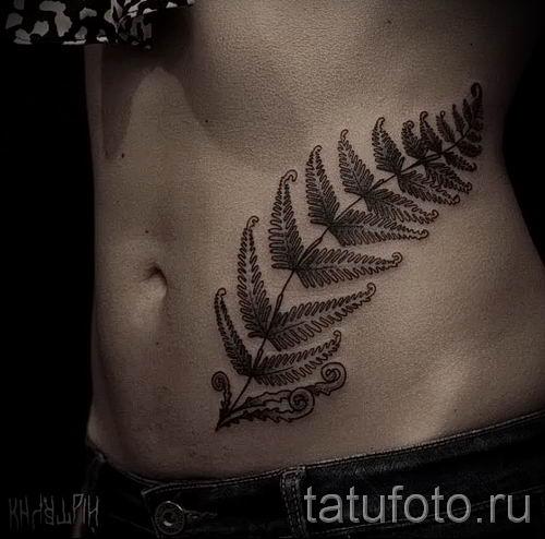 Классная тату папоротник на фото - для статьи про значение татуировки 30