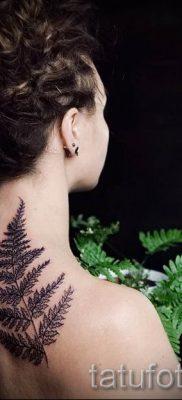 Классная тату папоротник на фото – для статьи про значение татуировки 39
